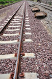 Railway track. A long journey Stock Images