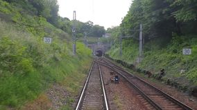 Railway track motion stock footage