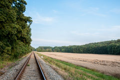 Railway track in the nature Royalty Free Stock Images