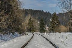 Railway track near village Dedinky Royalty Free Stock Photography