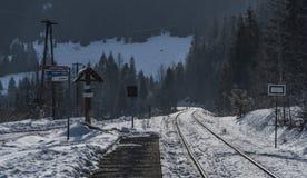 Railway track near village Dedinky Stock Image