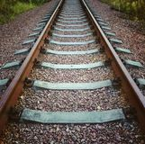 Railway track. Old Railway track in Chernobyl Exclusion zone Stock Image