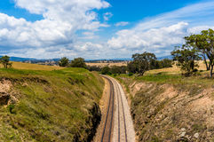 Railway track in outback Australia. Royalty Free Stock Photography