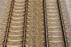 Railway track pair Royalty Free Stock Image