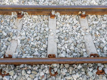 Railway track perspective Royalty Free Stock Images