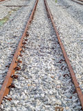 Railway track perspective Stock Photography
