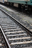 Railway Track and Train Royalty Free Stock Photography