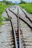 Railway track, railroad junction Royalty Free Stock Photography