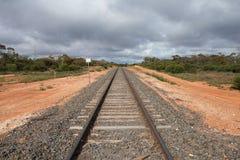 Railway Track Rural Australia. Stock Image