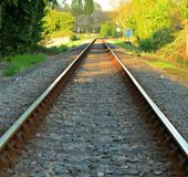 Railway track. Royalty Free Stock Images