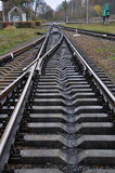 Railway track and sleepers_2 Royalty Free Stock Photo