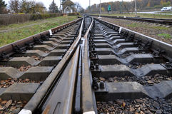 Railway track and sleepers_3 Royalty Free Stock Image