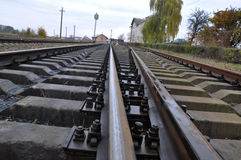 Railway track and sleepers_4 Royalty Free Stock Photo