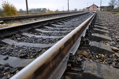 Railway track and sleepers Stock Images