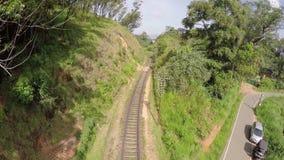 Railway track in sri lanka stock footage