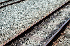 Railway Track. In a railway station Stock Photography