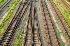 Railway track. Royalty Free Stock Photography