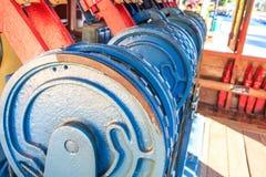 Railway track switch mechanism Stock Image