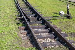 Railway track switch Royalty Free Stock Images