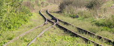 Railway track switch Royalty Free Stock Photo