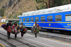 Railway track to Machu Picchu Stock Photo