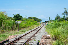 Railway Track. To the station at Pahang, Malaysia Royalty Free Stock Photos