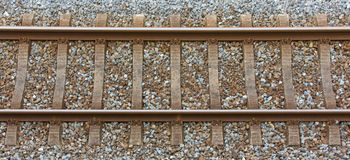 Railway track from a top view Royalty Free Stock Photo