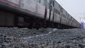 RAILWAY TRACK AND TRAIN stock footage