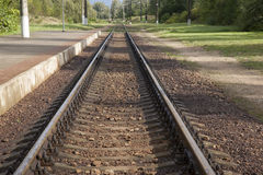 Railway Track, Trakai Stock Photo