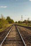 Railway track and trees Royalty Free Stock Images