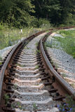 The railway track turn right Royalty Free Stock Images