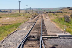 Railway track up Taieri Gorge New Zealand Stock Image
