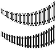 Railway track with 2 version. Subway, tram tracks. Public transp Royalty Free Stock Photos