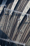 Railway track viewed from above Royalty Free Stock Photos