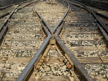 Railway Tracks. Old Railway Tracks and Junction Royalty Free Stock Images