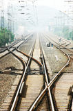 Railway Tracks. Change Tracks, no Train, Public Transportation Stock Photography