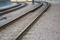Railway tracks. For a smooth ride stock photography