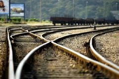 Railway tracks royalty free stock photo