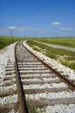 Railway tracks. Heading off into the distance Stock Photo