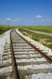 Railway tracks. Heading off into the distance stock photo