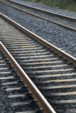 Railway tracks. Close up of modern railway tracks in england stock images