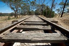 Railway Tracks. Train Tracks going into horizon Royalty Free Stock Image