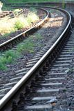 Railway tracks. View at curved railway tracks Stock Photography