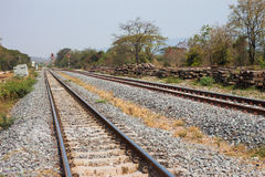 Railway tracks on background of scenery Stock Image