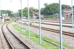 Railway Tracks. Beautiful railway tracks royalty free stock photography