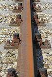 Railway tracks. Bolts of a railway track Stock Images