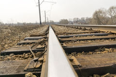 Railway Tracks Close up Royalty Free Stock Images