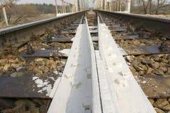 Railway Tracks Close up Royalty Free Stock Image