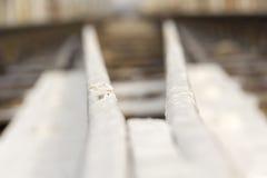 Railway Tracks Close up Royalty Free Stock Photo