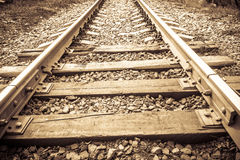 Railway Tracks Close up Royalty Free Stock Photography
